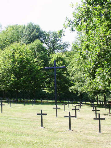 A field of black metal crosses