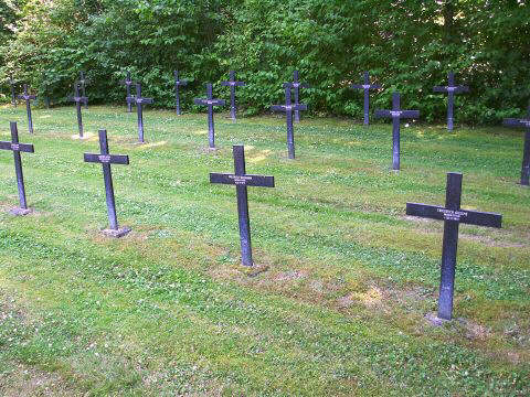 Only one soldier for each cross in this section