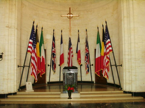 The Flags of the Allied Nations and USA