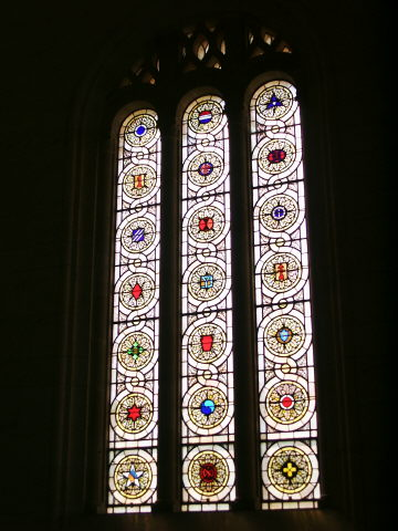 Right Hand Stained Window