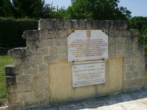 The Memorial to the House owned by Procureur Sauce.