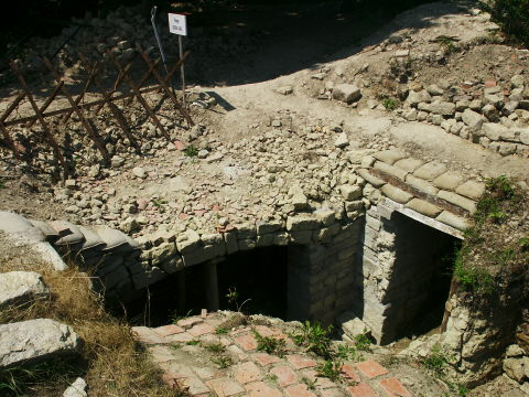 Entrance to a French shelter